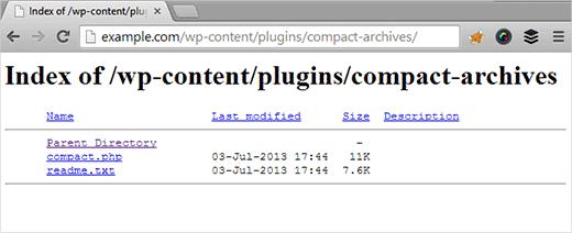 نمایش لیست فایل های داخل پوشه های سایت